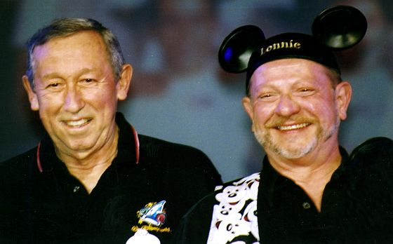 Roy Disney Jr. and a Mouseketeer named Lonnie at 100 Years of Magic at WDW in 2003.