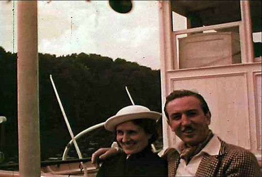 Lillian and Walt aboard the Wilhelm Tell in Switzerland on July 10. Courtesy: Walt Disney Family Foundation.
