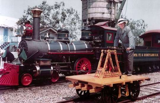 Walt Disney on the handcar.